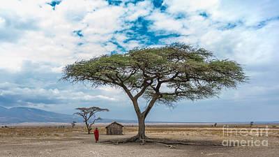 Photograph - School In Masai Village by Jacki Soikis