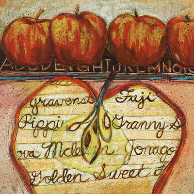 School Of Apples Art Print by Jen Norton
