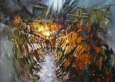 Painting - School Of Ballet by Andras Manajlo