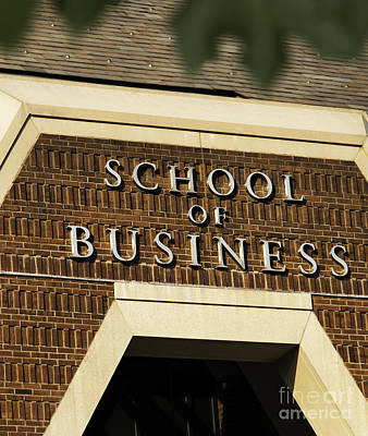 Photograph - School Of Business by Phil Cardamone