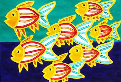 School Of Fish Art Print by Matthew Brzostoski