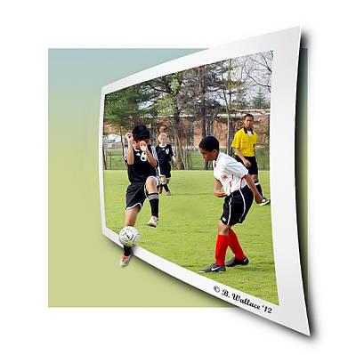 School Soccer Art Print by Brian Wallace