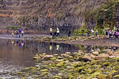 English Rock Groups Photograph - School Trip, Kimmeridge Bay, Dorset by Dr Keith Wheeler