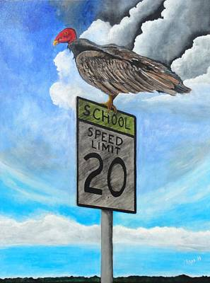 Painting - School Zone Reaper by Manny Chapa