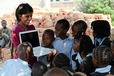 Southern Africa Photograph - Schoolchildren by Matthew Oldfield