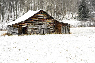 One Room School Houses Photograph - Schoolhouse Barn by Thomas R Fletcher