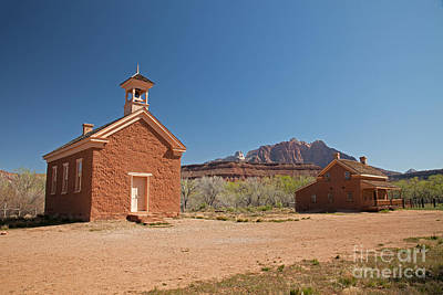 Photograph - Schoolhouse/church And Alonzo Russell House by Fred Stearns