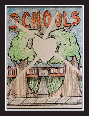 Drawing - Schools by Jason Girard