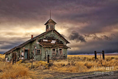 Old Schoolhouse Photograph - School's Out Forever by Danielle Denham