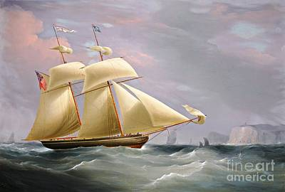 Painting - Schooner Amy Stockdale Off Dover by Roberto Prusso