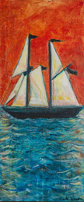 Warn In Painting - Schooner by Erik Warn