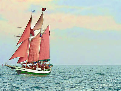 Photograph - Schooner Jolly Rover Key West by Joan  Minchak