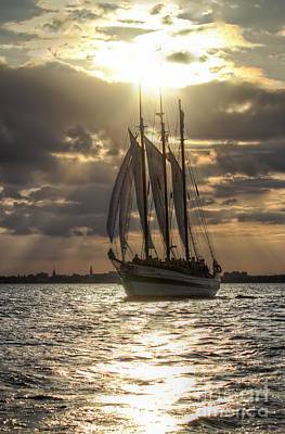 Schooner Pride Charleston Sc Print by Dustin K Ryan