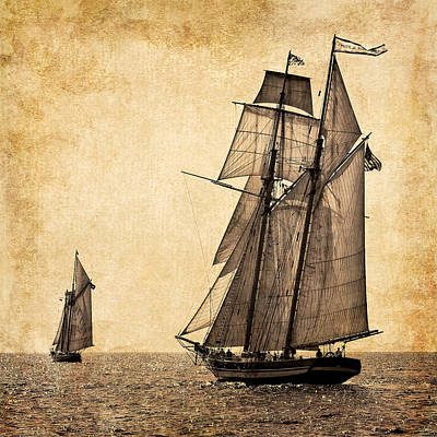 Photograph - Schooner Race by Fred LeBlanc