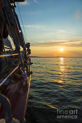 Schooner Sunset Art Print