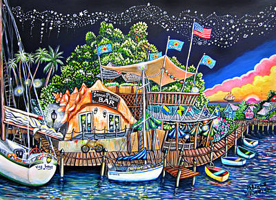 Water Bouys Painting - Schooner Wharf Bar by Abigail White