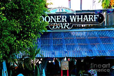 Schooner Wharf Bar In Key West Florida Art Print by Susanne Van Hulst