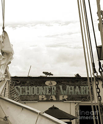 Photograph - Schooner Wharf - Teal by Kathi Shotwell