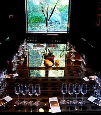 Photograph - Schramsberg Private Wine Tasting Room by Jeff Lowe