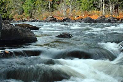 Superhero Ice Pop - schroon Rapids in Autumn by Stephen Hobbs