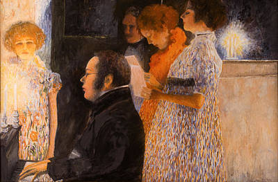 Painting - Schubert At The Piano  - After Klimt by Don Perino