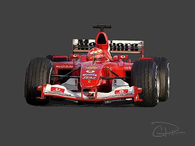 Michael Schumacher Digital Art - Schumacher - Ferrari F2004 by Charley Pallos