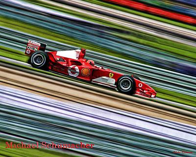 Photograph - Schumacher Guard Rail Blur by Blake Richards