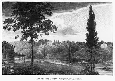 Schuylkill Ferry, 1808 Art Print