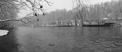 Photograph - Schuylkill In Black And White by Michael Porchik