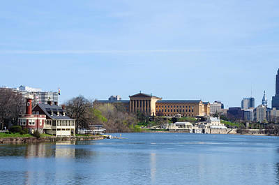 Schuylkill River And The Philadelphia Art Museum Art Print