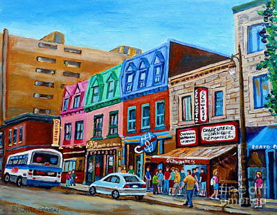 Painting - Schwartz's Hebrew Delicatessen  by Carole Spandau