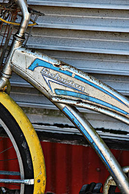 Photograph - Schwinn With A Yellow Fender by Lynn Jordan