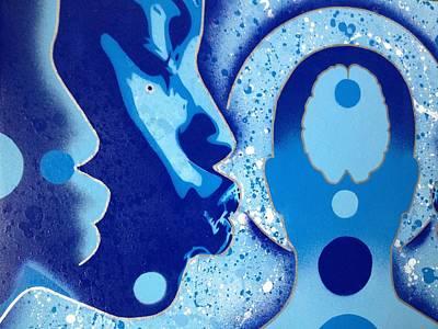 Splash Painting - Sci Fi Kiss by Leon Keay