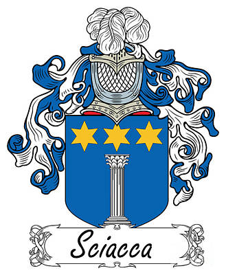 Sciacca Coat Of Arms Di Sicilia Art Print by Heraldry
