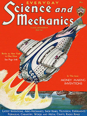 Information Mixed Media - Science And Mechanics Magazine Cover 1931 by Mountain Dreams