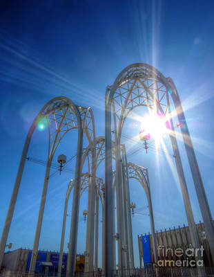 Photograph - Science Center Sun Flare by Chris Anderson