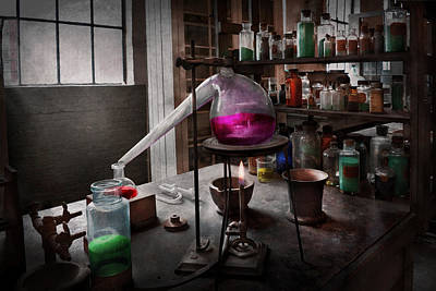 Photograph - Science - Chemist - Chemistry For Medicine  by Mike Savad