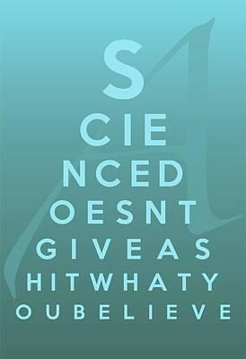 Hitchens Digital Art - Science Eye Chart by Helena Kay