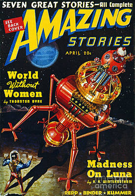 Amazing Stories Photograph - Science Fiction Cover, 1939 by Granger