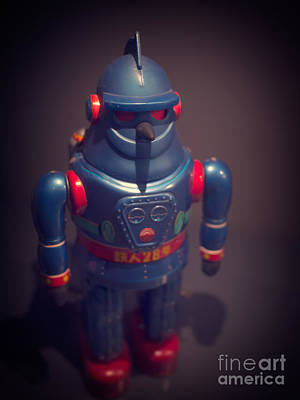 Science Fiction Photos - Science Fiction Vintage Robot Toy by Edward Fielding