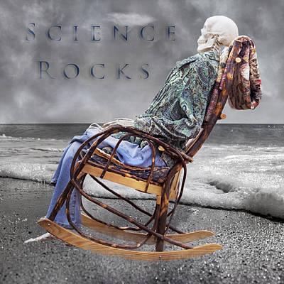 Beach Mixed Media - Science Rocks by Betsy Knapp