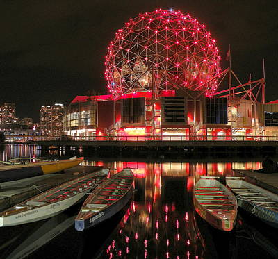 Photograph - Science World And Dragonboats by Brian Chase
