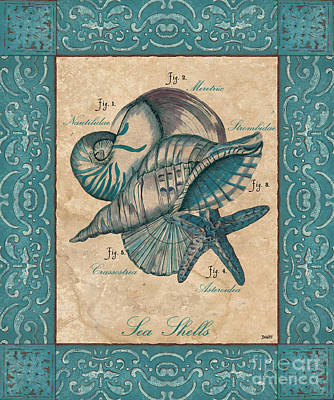 Nautilus Painting - Scientific Drawing by Debbie DeWitt
