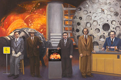 Atom Painting - Scientific Pioneers Of Silicon Valley by Terry Guyer