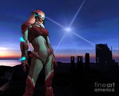 Digital Art - Scifi Rusit 2 by Georgina Hannay