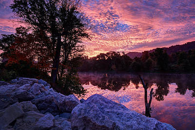 Scioto Sunrise Art Print by Jaki Miller