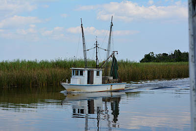 Photograph - Scipio Creek Working Boat by Judy Wanamaker