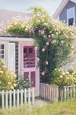 Sconsett Roses Nantucket Island Cape Cod Print by Julia O'Malley-Keyes