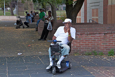Busstop Photograph - Scooter In The Park by Alice Gipson