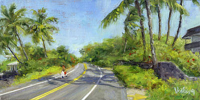 Haleiwa Painting - Scooter by Stacy Vosberg
